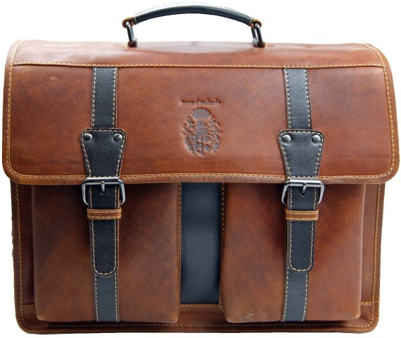 Mens briefcase brown 40cm